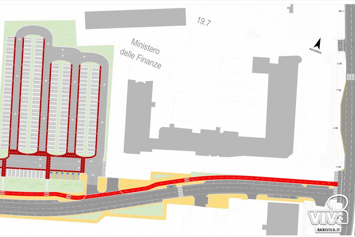 giunta approva il progetto di riqualificazione dell area di parcheggio tra le vie Pietro Sette e Tridente a San Pasquale planimetria