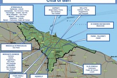 La mappa della criminalit a Bari