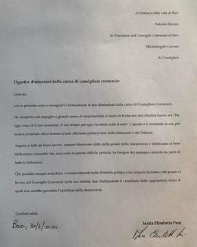 Dimissioni Elisabetta Pani