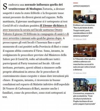 La Fake News su Modugno