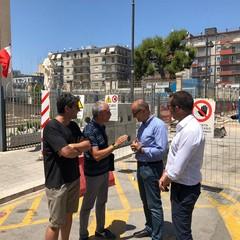 sopralluogo dellass Galasso in piazza Redentore a liberta