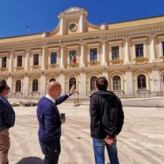 al via i lavori per il nuovo sistema di illuinazione in piazza Risorgimento
