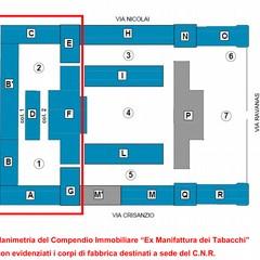 sopralluogo ex Manifattura Tabacchi per progetto nuovo CNR planimetria