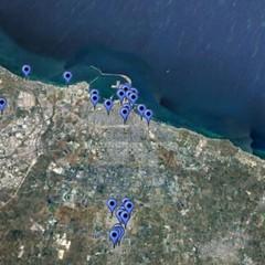 a Bari le cape di ferro come i nasoni a Roma mappa localizzazione