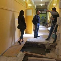 sopralluogo lavori in corso alla Mazzini Modugno