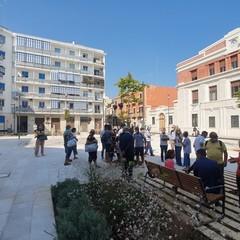 stamattina il sindaco Decaro in piazza Disfida di Barletta al termine dei lavori di riqualificazione