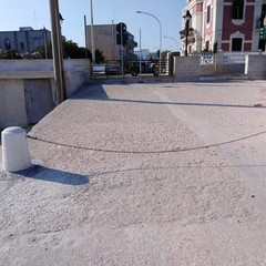 Ripristinato il pilone sulla banchina di Palese