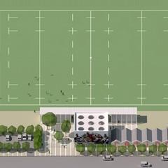 Il prospetto del nuovo stadio