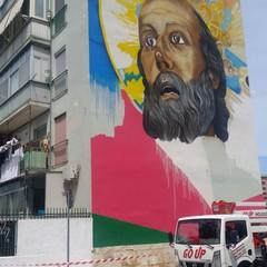 Il murales di San Nicola al San Paolo