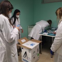 La consegna dei vaccini anti Covid