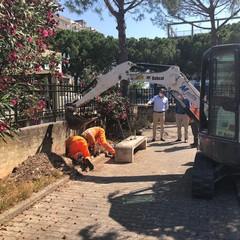 al via i lavori per impianto di illuminazione nel giardino tra via Caladarola via dei Caduti Partigiani