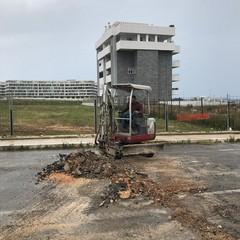 al via i lavori per la posa di pali di p i a SantAnna