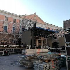 Il palco del concertone di capodanno