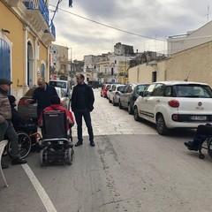 eliminazione barriere architettoniche a Ceglie sopralluogo di Galasso