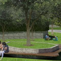 progetto esecutivo parco ex gasometro render vista lato via A Garibaldi