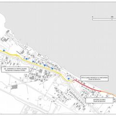 progetto itinerario ciclopedonale strada del baraccone planimetria stato di progetto