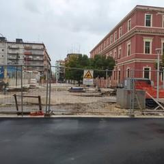 Il cantiere di piazza Redentore