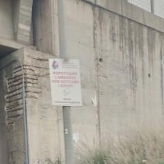 Il cartello in zona Asi