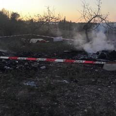 L'incendio a Santa Rita