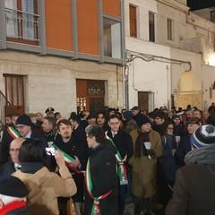 La manifestazione a Cellamare