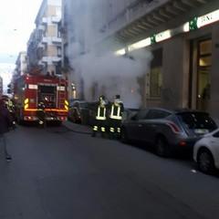 Incendio cassonetti via Dante