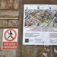 Il cantiere alla ex Manifattura Tabacchi a Bari