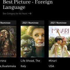 Le nomination sul sito Golden Globe Awards