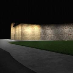 rendering illuminazione fortino muraglia