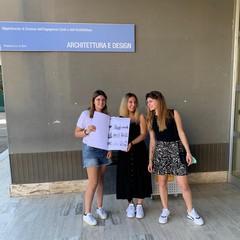 studenti ricerca su TRANI Da SX Francesca Fariello Martina De Cosmo Alessia Biagiotti