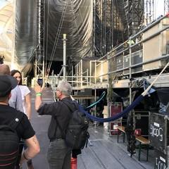 Il palco del concerto di Vasco Rossi a Bari