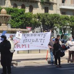 La manifestazione dei risparmiatori Banca Popolare