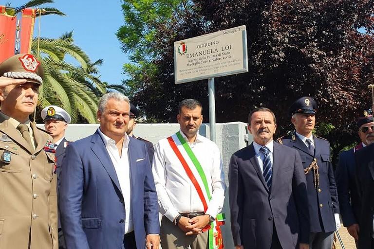 inaugurazione giardino emanuela loi