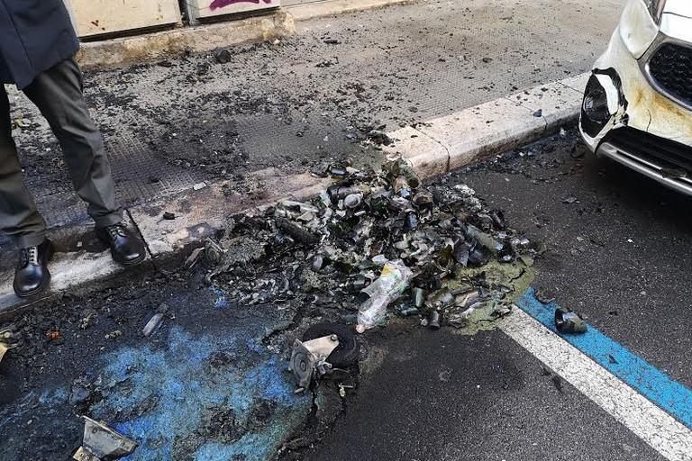 cassonetti incendiati