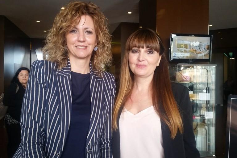 Barbara Lezzi con Elisabetta Pani