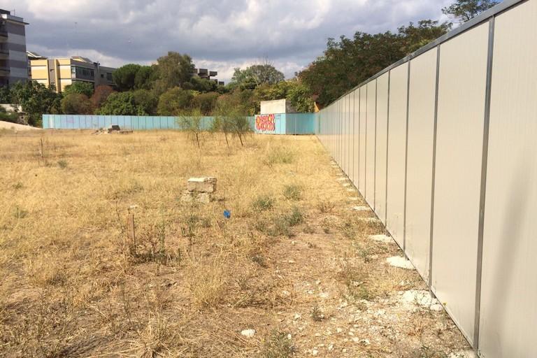 ex Caserma Rossani quasi ultimati i lavori per il nuovo parco in via Gargasole