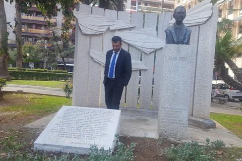 ripristinata lapide Aldo Moro