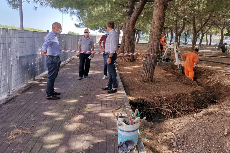 al via i lavori per la nuova illuminazione del parco tra le vie Papalia e Carabellese a Japigia