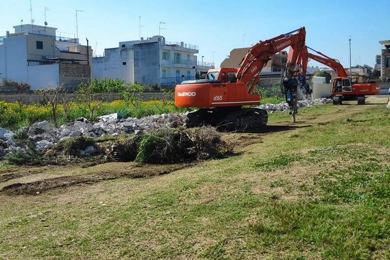 Il cantiere in via Udine