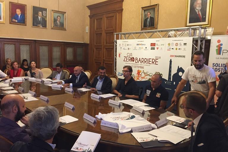 Bari CUS ZeroBarriere la conferenza stampa