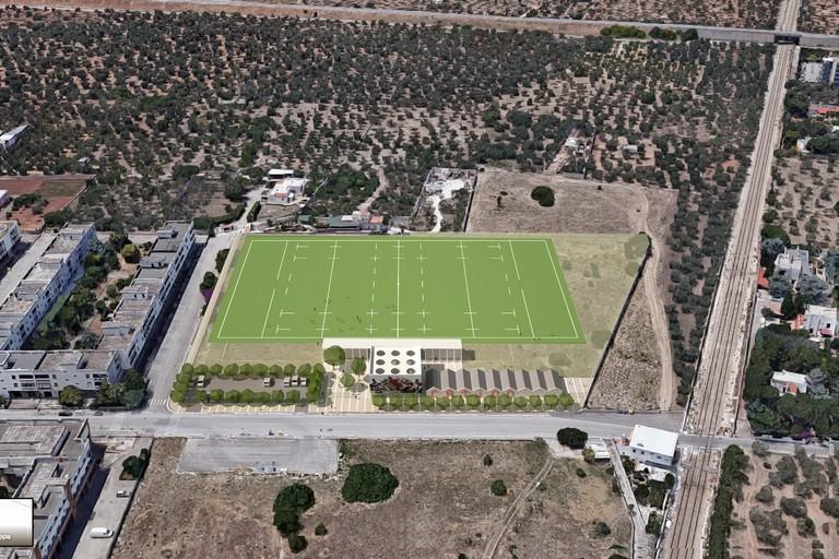 Un prospetto del nuovo stadio