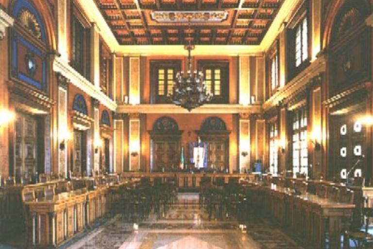La sala consiliare della Città Metropolitana di Bari