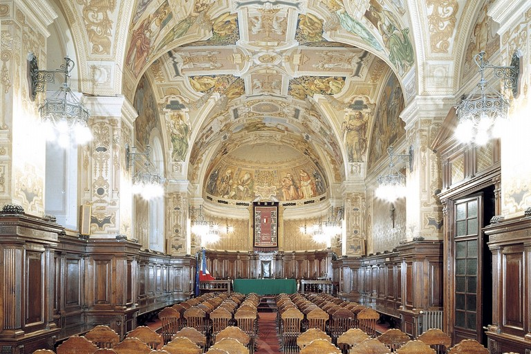 L'aula magna dell'università di Bari