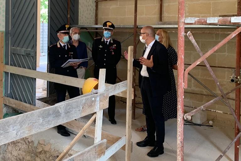 stamattina nuovo sopralluogo sul cantiere della caserma Carabinieri nella ex Manifattura Tabacchi