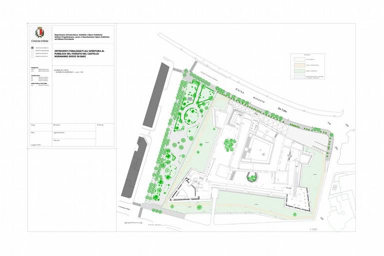 riqualificazione e valorizzazione Parco del castello pianta