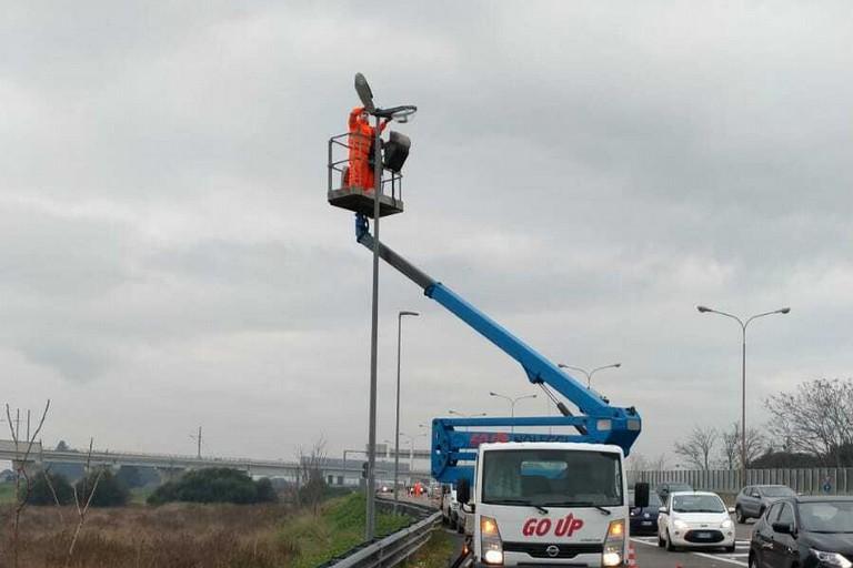 al via oggi i lavori per la nuova illuminazione del secondo stralcio di viale Tatarella