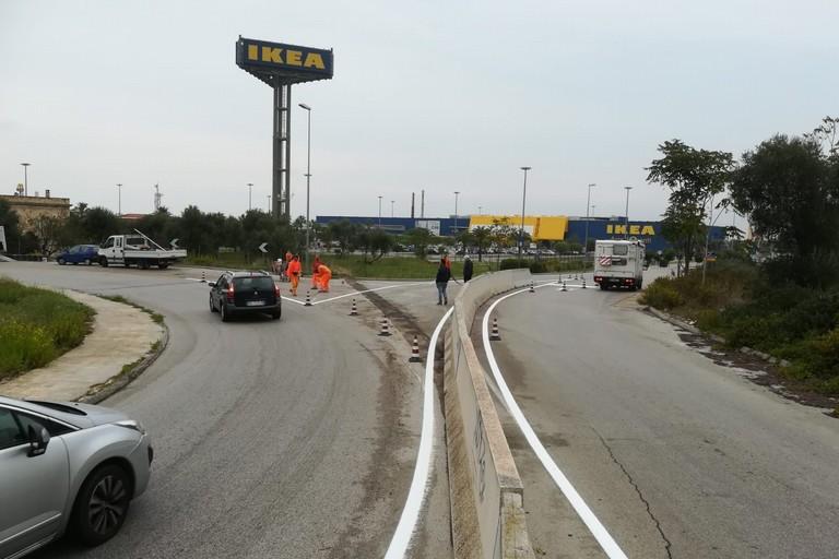 riapertura varco diretto Ikea rotatoria Mungivacca