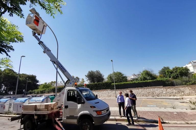 al via i lavori di sostituzione dei corpi illuminanti nelle strade e giardini del Municipio I