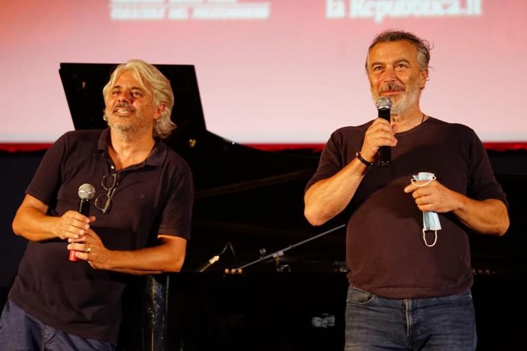 Abbrescia e Sassanelli sul palco del Bif st