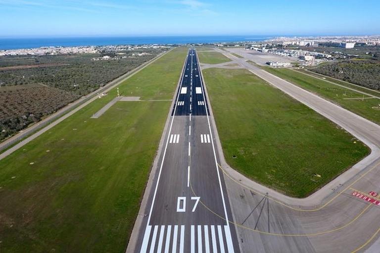 La pista dell'aeroporto