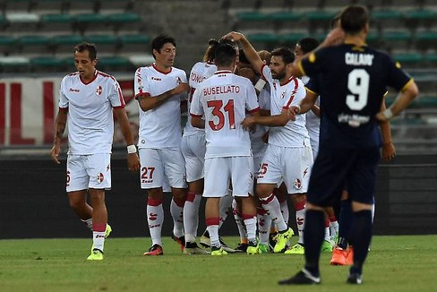 Esultanza dopo un gol in Coppa Italia